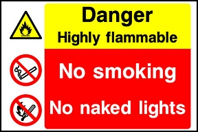 Flammable No Naked Lights