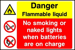 Flammable Batteries Charging