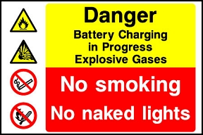 Explosive Gasses Battery Charging