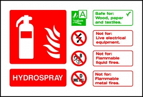 Hydrospray Extinguisher For
