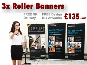 3x Roll up Banners