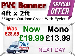 4ft x 2ft PVC Banner Special Offer