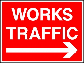 Works Traffic Right Signs