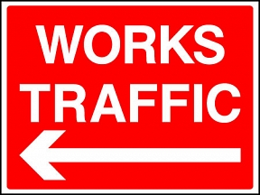 Works Traffic Left Signs