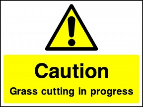 Grass Cutting Signs