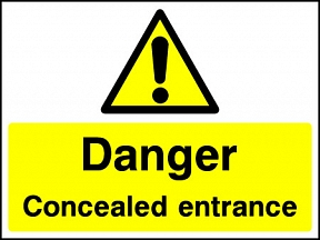 Concealed Entrance Signs
