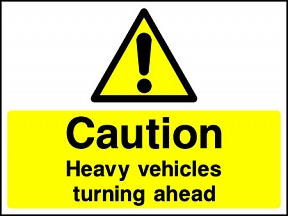 Vehicles Turning Signs