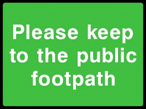 Keep Off Footpath