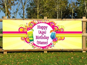 Birthday Age & Name Banner