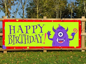 Monster Birthday Banner