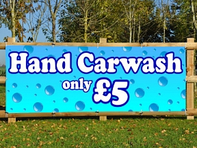 Hand Car Wash Banners