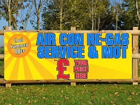 Aircon re-gas Banners
