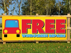 FREE Windscreen Repair Banners