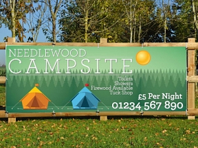 Camping Site Promotional Banners