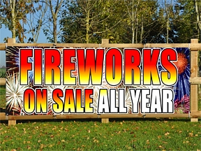 Fireworks Sales Banners