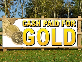 Cash Gold Banners