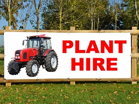 Plant Hire Banners