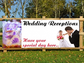 Wedding Reception Banners