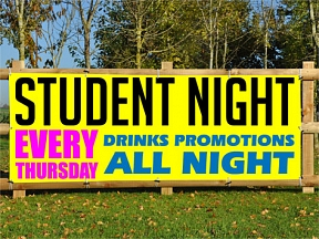 Student Night Banners