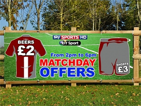Football Matchday Offers Banners