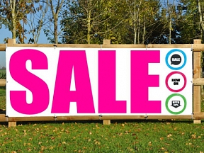 New Year Sales 30% Discount Printed Banner