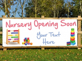 Nursery Open Soon Banners