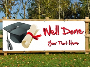 Well Done Graduation Banners