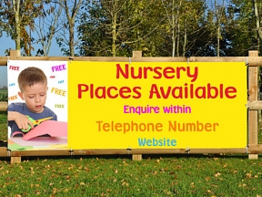 Nursery Places Available Banners