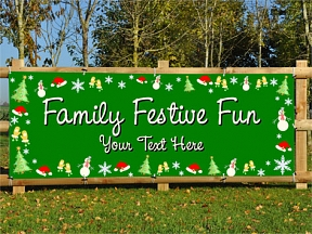 Family Festive Banners