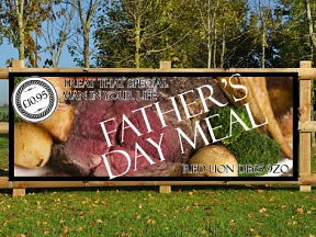 Fathers Day Meal Banners