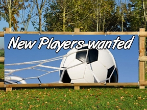 Football Players Wanted Banners