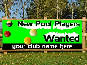 Pool Players Wanted Banners
