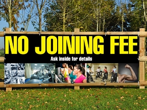 No Joining Fee Banners