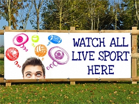 Live Sports Here Banners