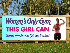 Women Only Gym Banners