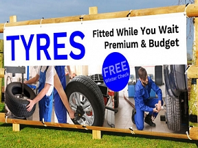 Tyres While You Wait Banners