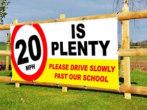 Slow Down School Banners