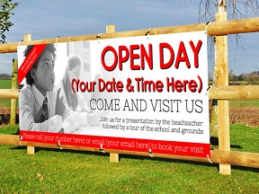 School Open Day Banners