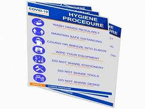 Covid-19 Hygiene Procedure Signs