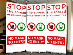 No Mask No Entry Roller Banners