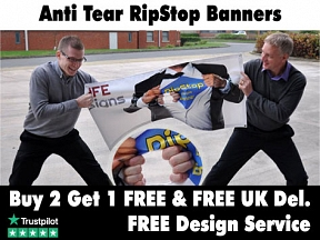 Anti Tear RipStop Banners