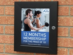 Key Lockable Poster Displays
