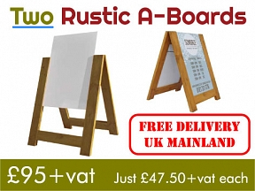 Rustic A-Board Offer