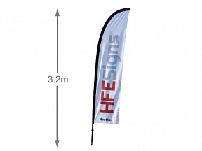 Feather Flag 3.2m Pole
