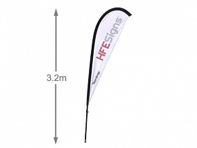 Quill Teardrop Flag 3.2m