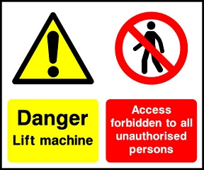 Danger Lift Machine