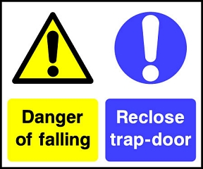 Danger Of Falling Trap-door