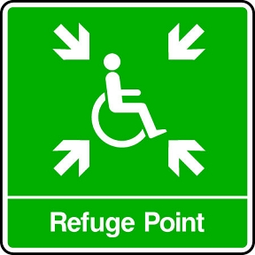 Disabled Refuge Point Sign Hfe Signs Amp Banners