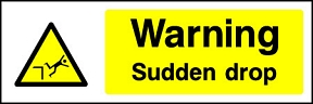 Sudden Drop Signs