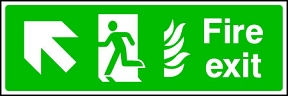 Fire Exit Flame (left-up)